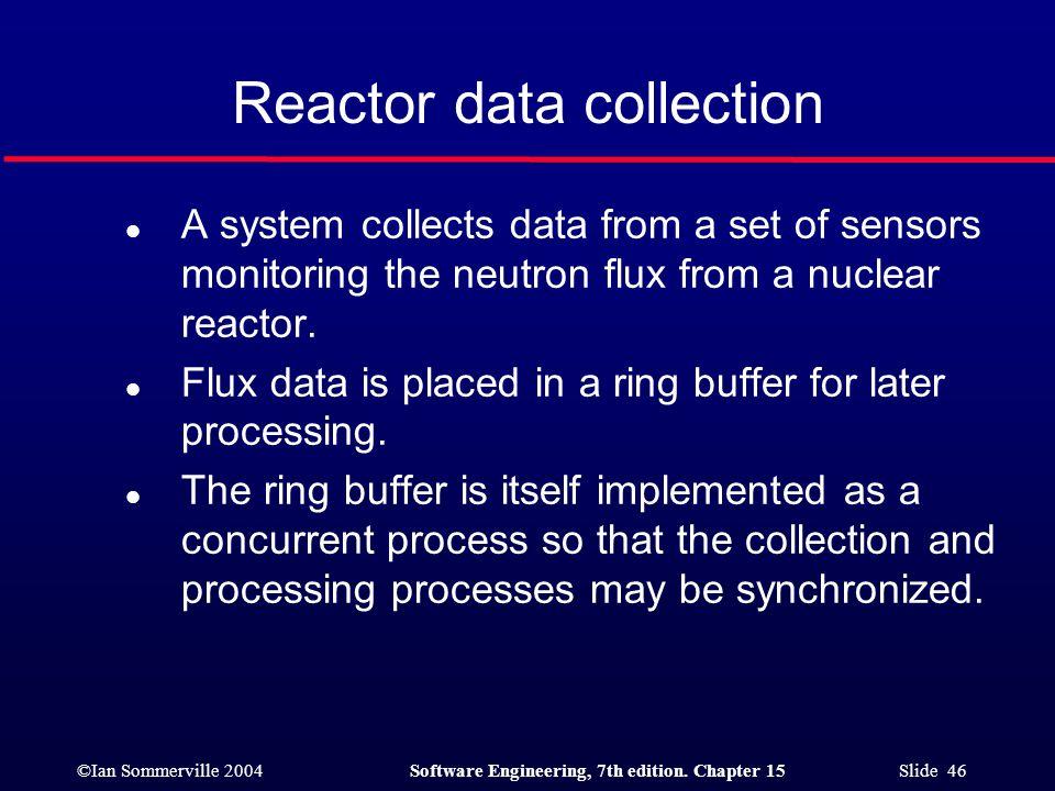 Reactor data collection