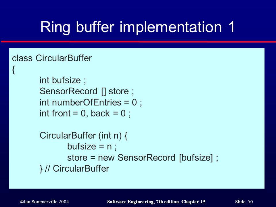 Ring buffer implementation 1