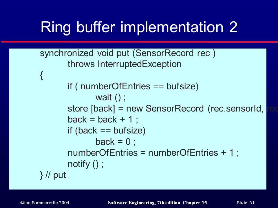 Ring buffer implementation 2