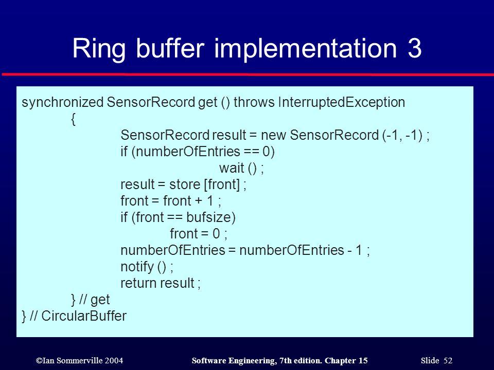 Ring buffer implementation 3