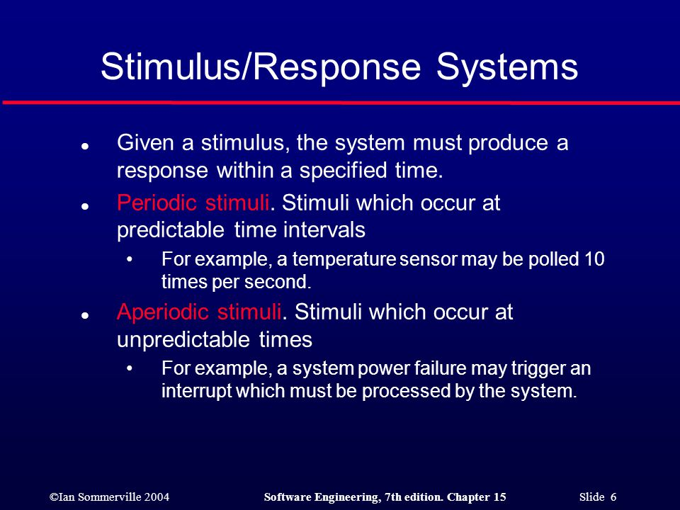 Stimulus/Response Systems