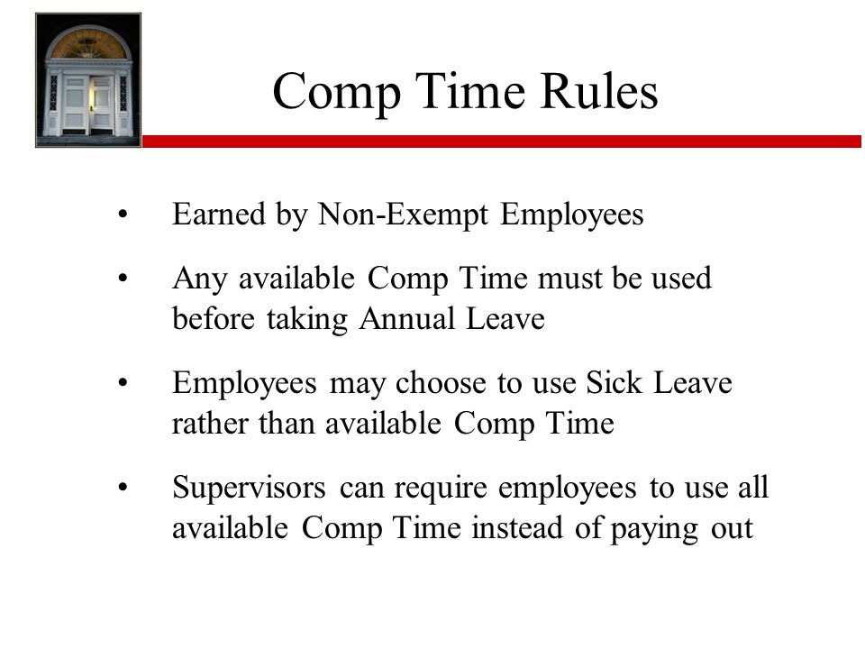 Comp Time Rules Earned by Non-Exempt Employees