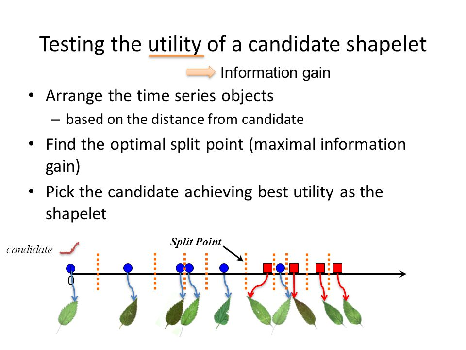 Testing the utility of a candidate shapelet