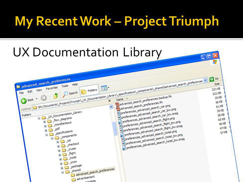 My Recent Work – Project Triumph