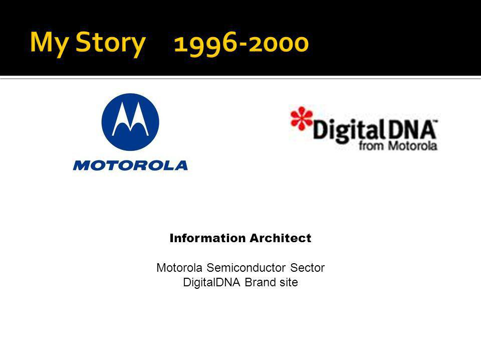 My Story 1996-2000 Information Architect Motorola Semiconductor Sector