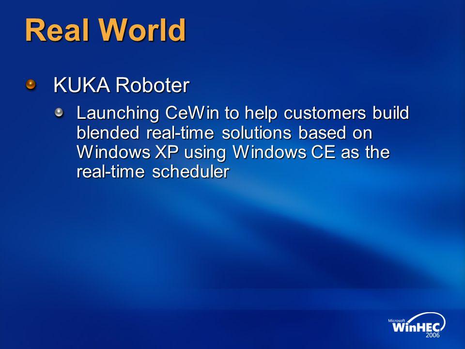 Real World KUKA Roboter