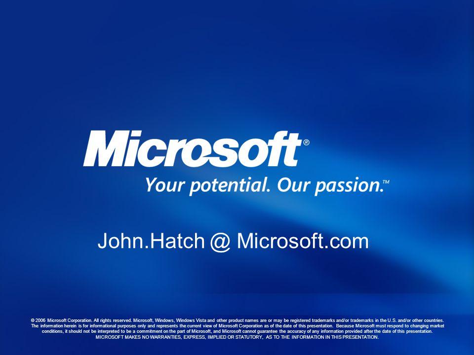 John.Hatch @ Microsoft.com