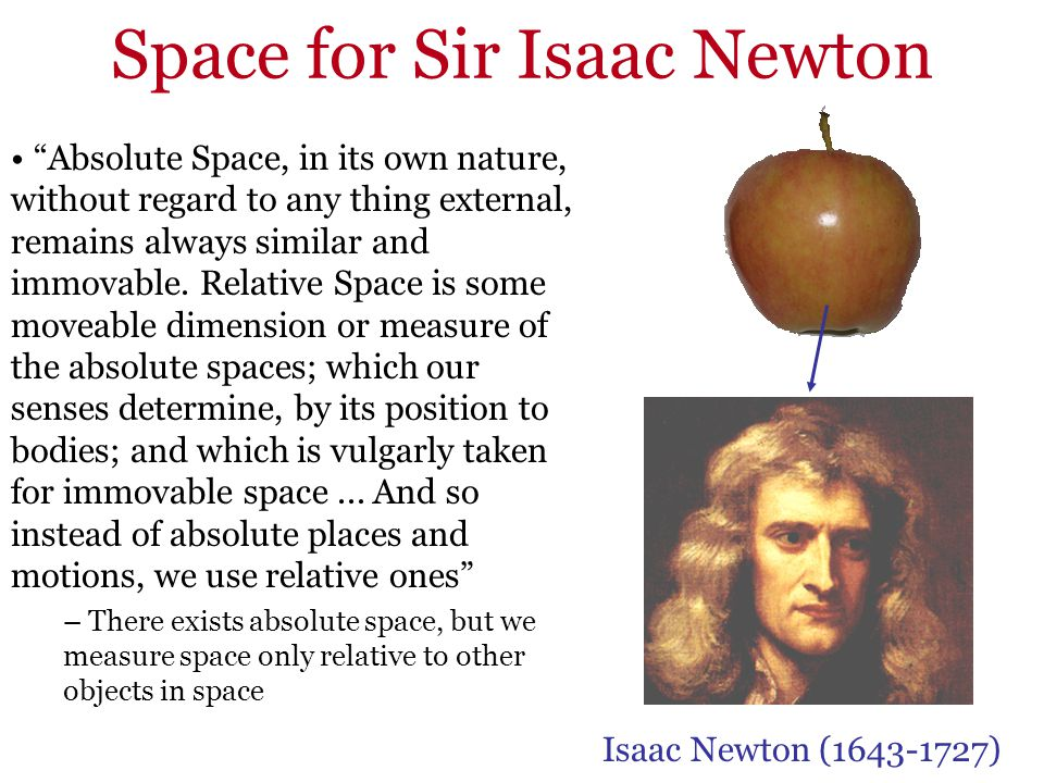 Space for Sir Isaac Newton