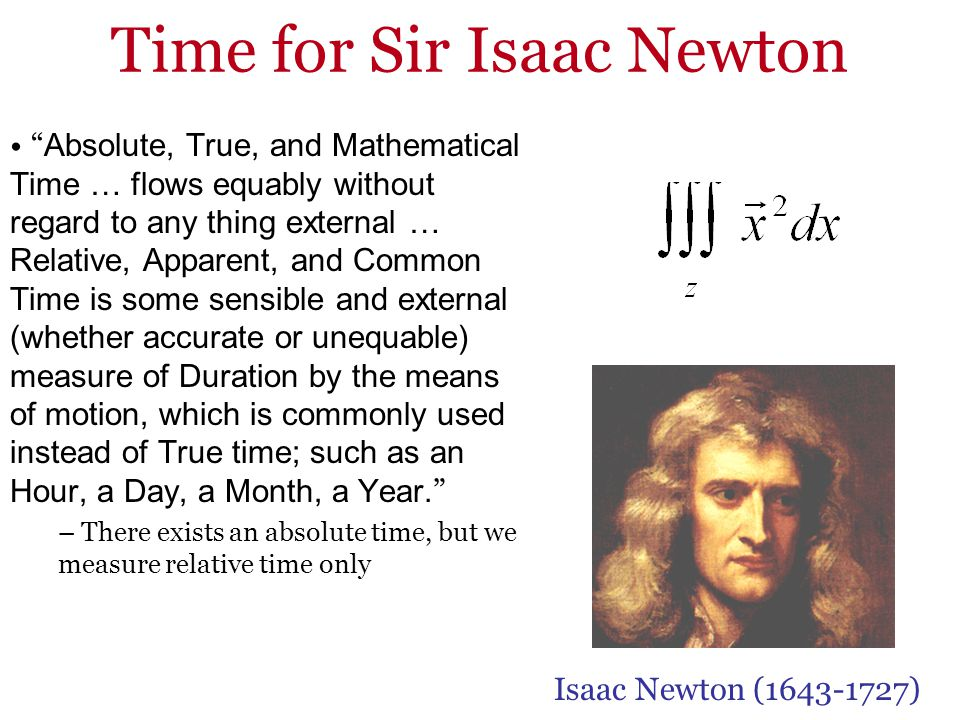 Time for Sir Isaac Newton