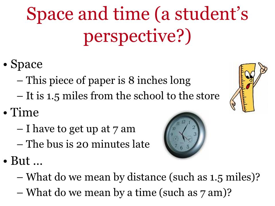 Space and time (a student's perspective )