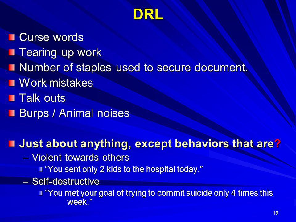 DRL Curse words Tearing up work