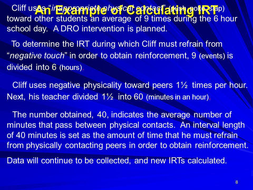 An Example of Calculating IRT
