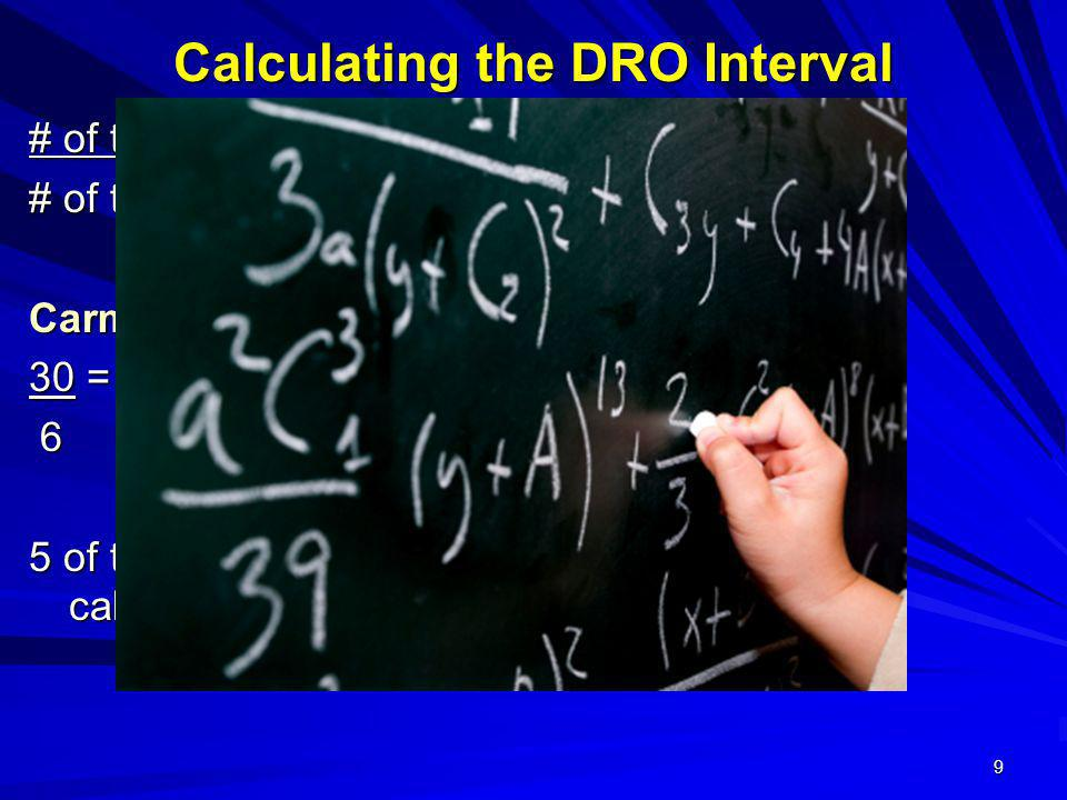 Calculating the DRO Interval
