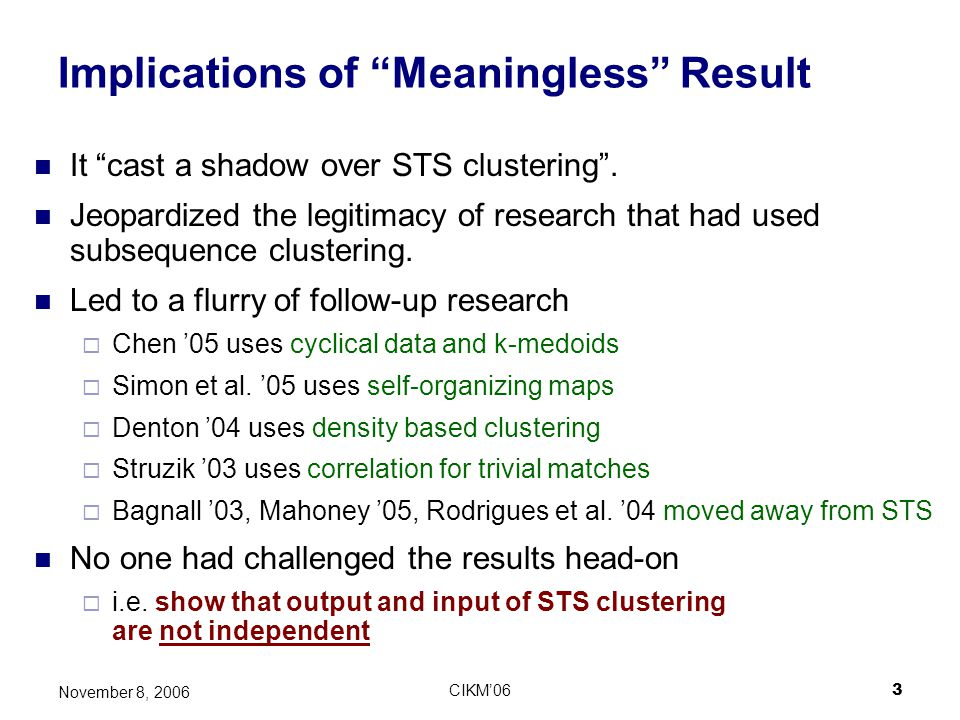 Implications of Meaningless Result