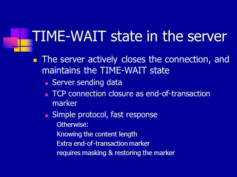 TIME-WAIT state in the server