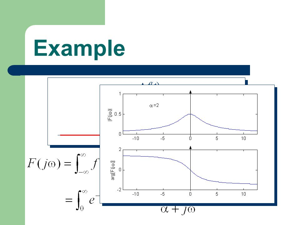 Example t f(t) et