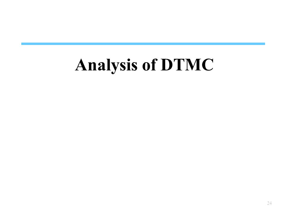 Analysis of DTMC