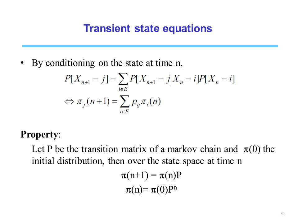 Transient state equations