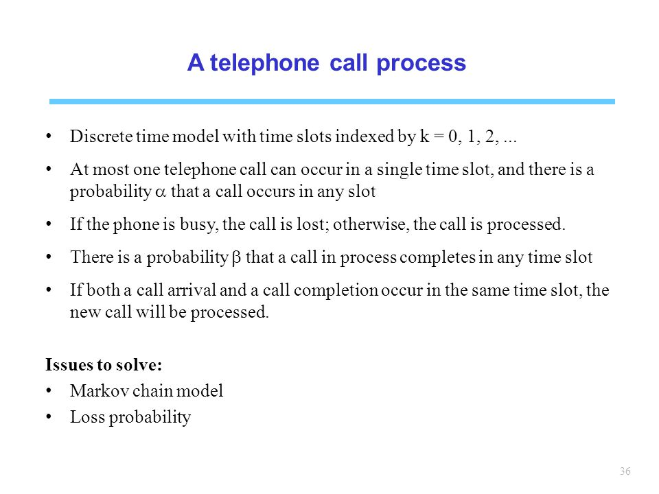 A telephone call process