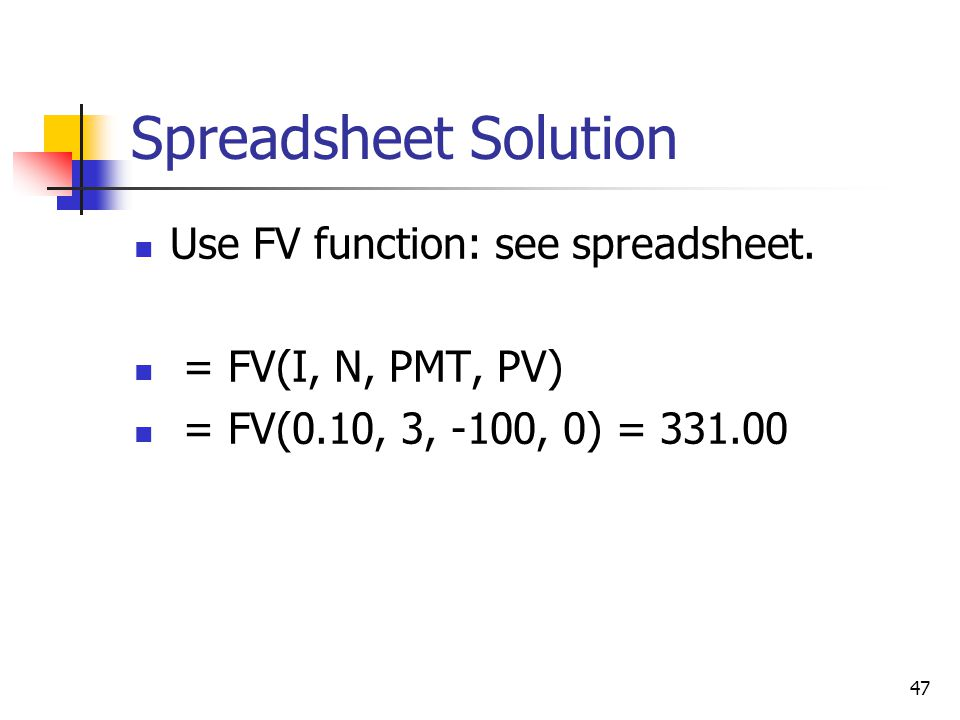 Spreadsheet Solution Use FV function: see spreadsheet.