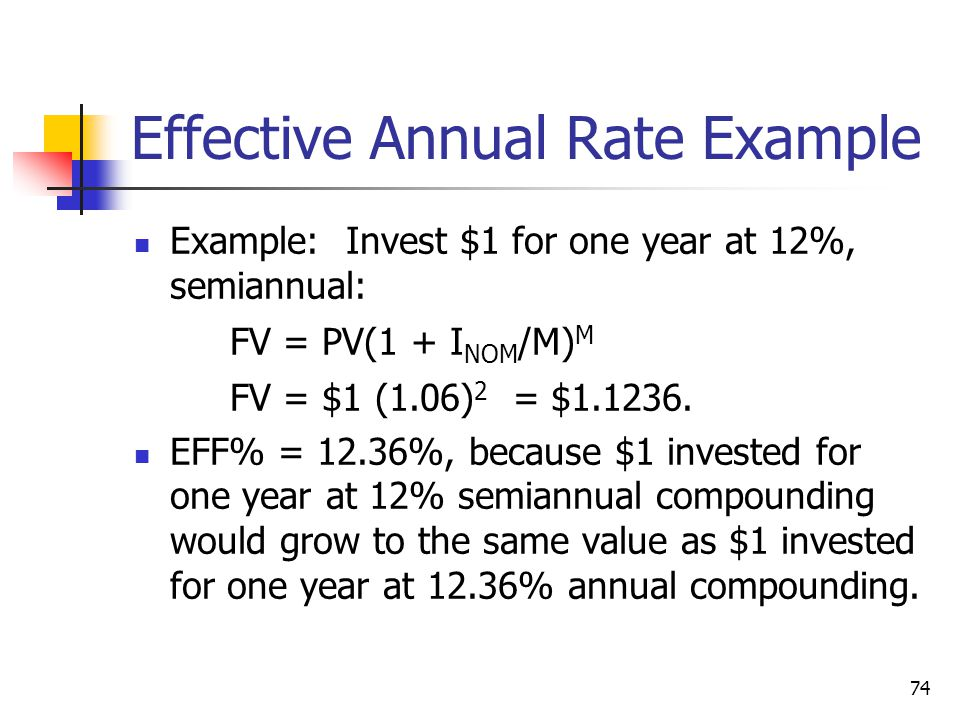 Effective Annual Rate Example