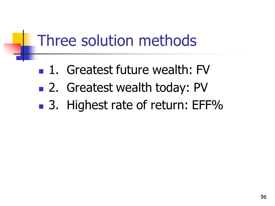Three solution methods