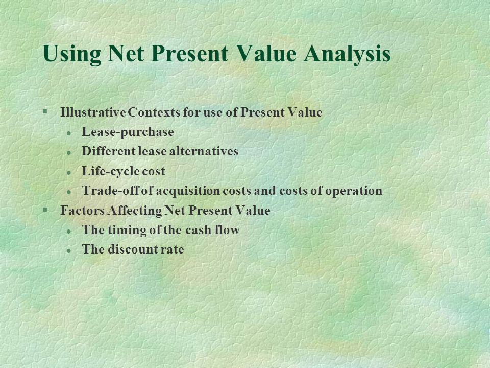 Using Net Present Value Analysis