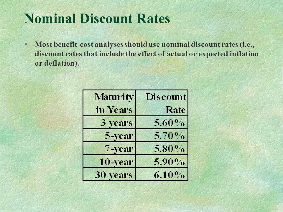 Nominal Discount Rates