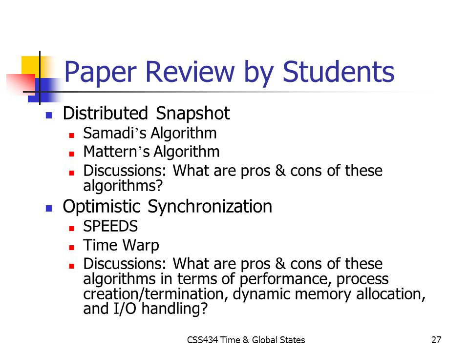 Paper Review by Students