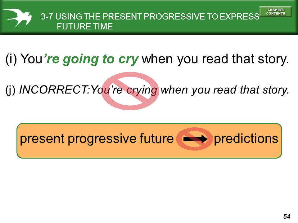 present progressive future predictions