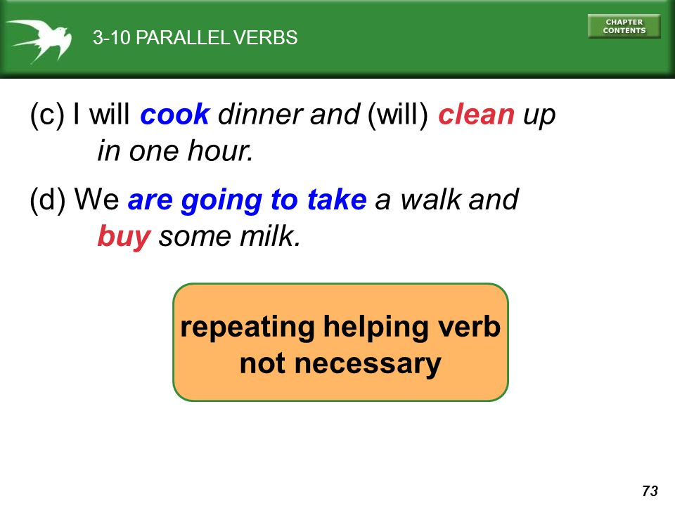 repeating helping verb
