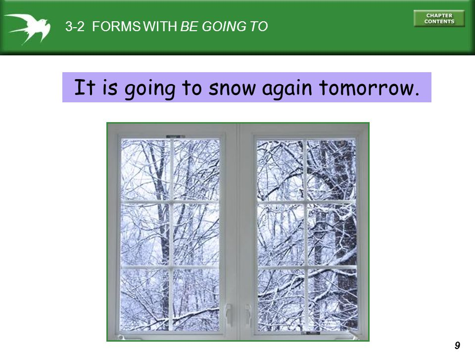 It is going to snow again tomorrow.