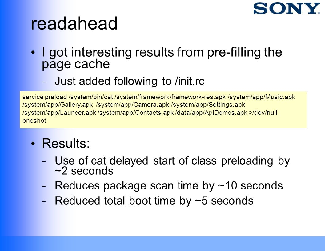readahead I got interesting results from pre-filling the page cache