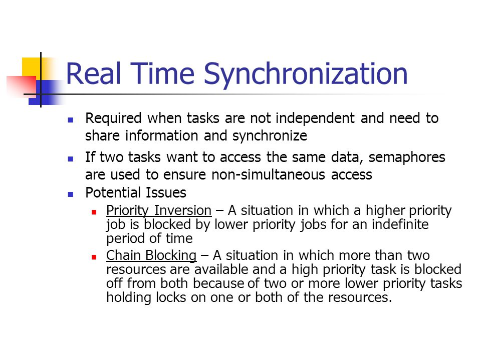 Real Time Synchronization