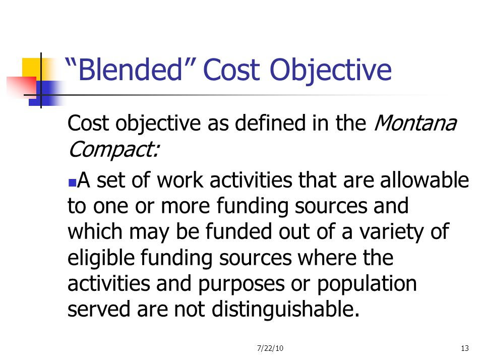 Blended Cost Objective