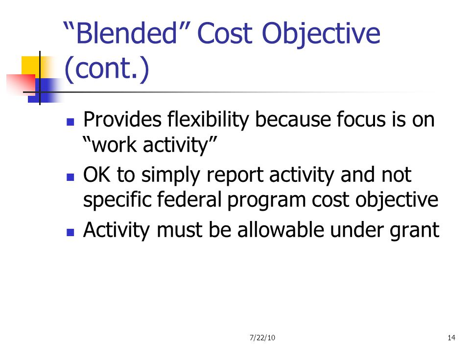Blended Cost Objective (cont.)