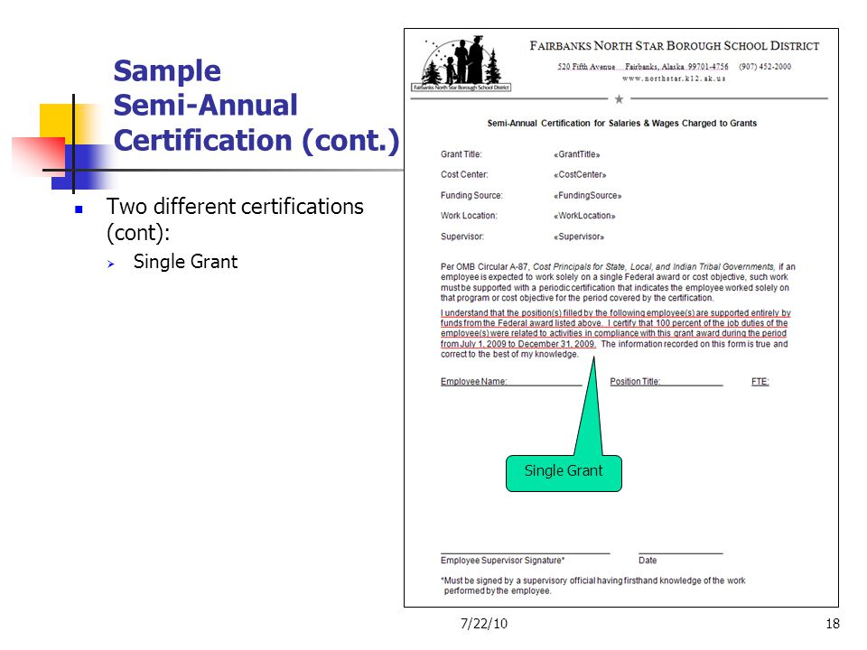 Sample Semi-Annual Certification (cont.)