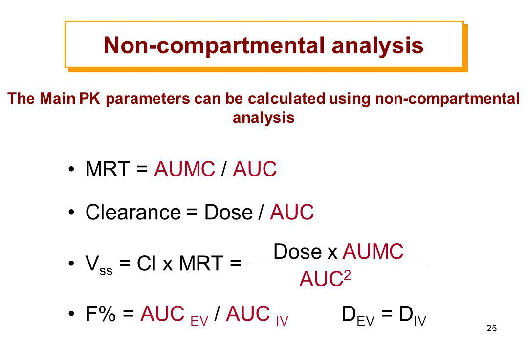Non-compartmental analysis
