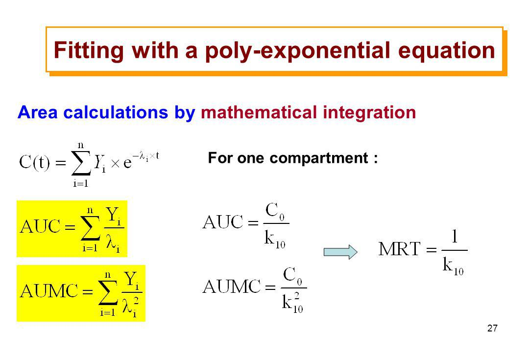 Fitting with a poly-exponential equation