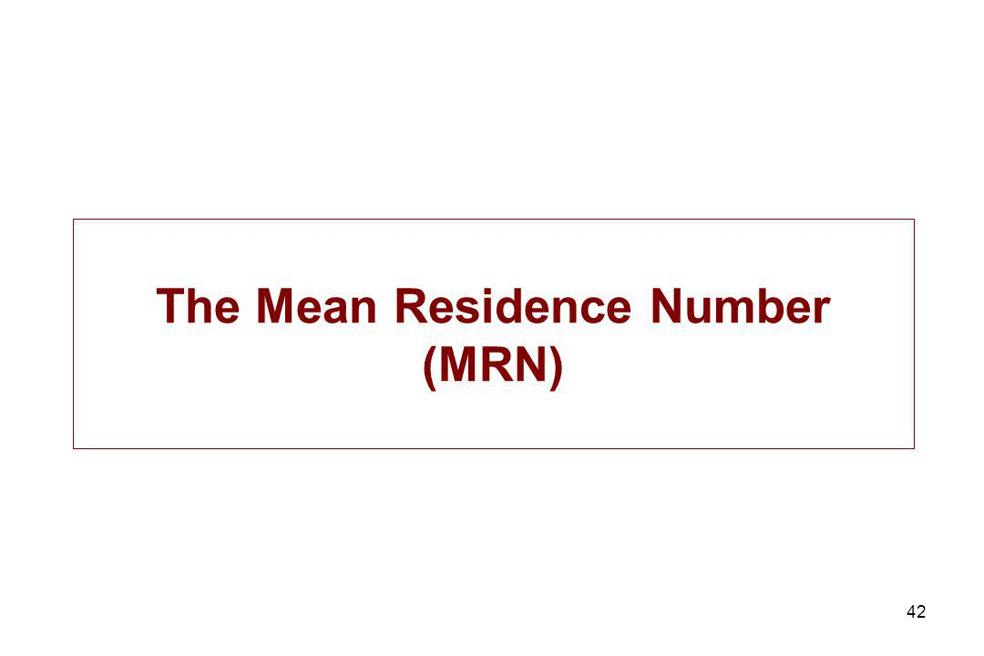 The Mean Residence Number (MRN)