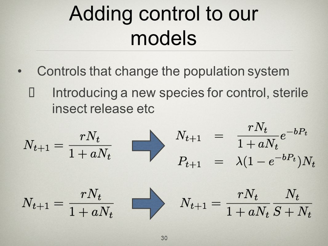 Adding control to our models