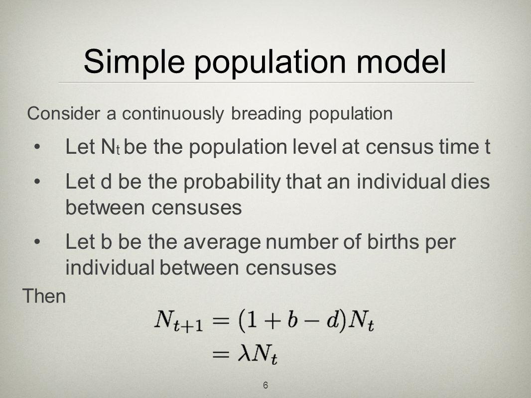Simple population model