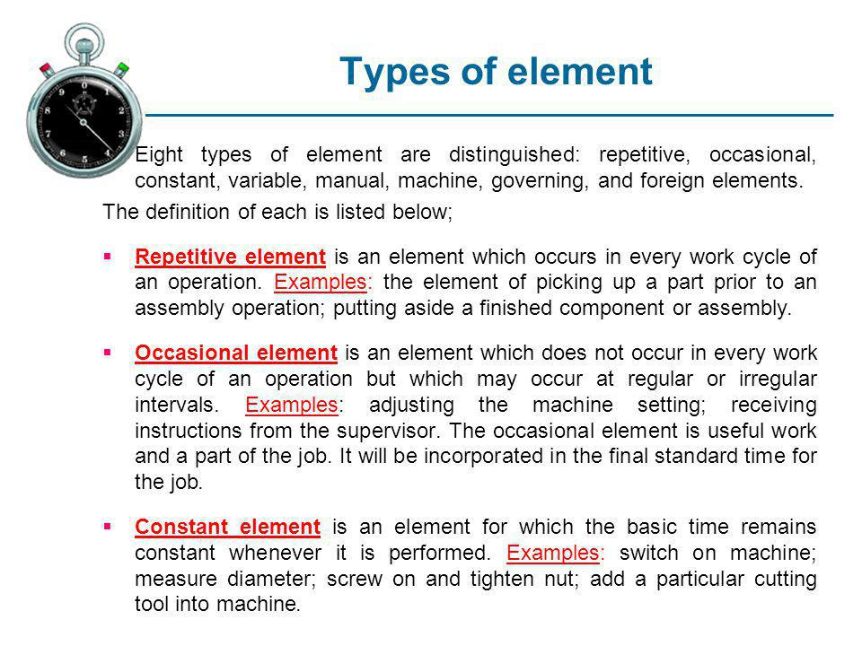 Types of element