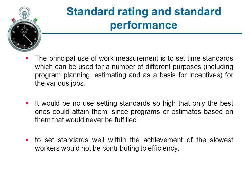 Standard rating and standard performance
