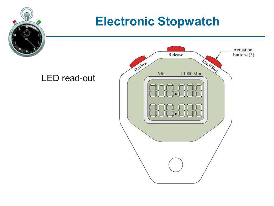 Electronic Stopwatch LED read-out