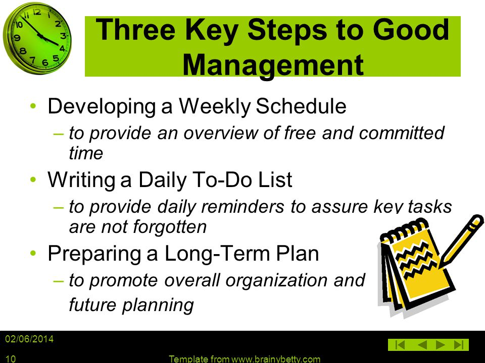 Three Key Steps to Good Management