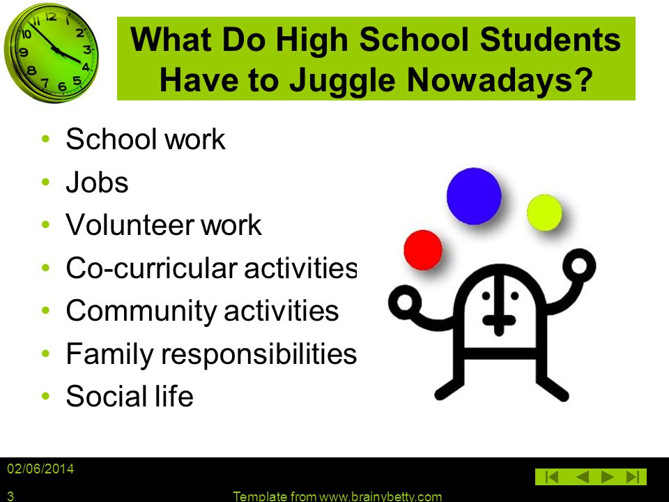 What Do High School Students Have to Juggle Nowadays