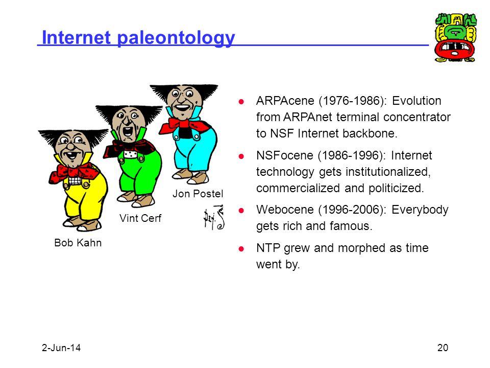 Internet paleontology