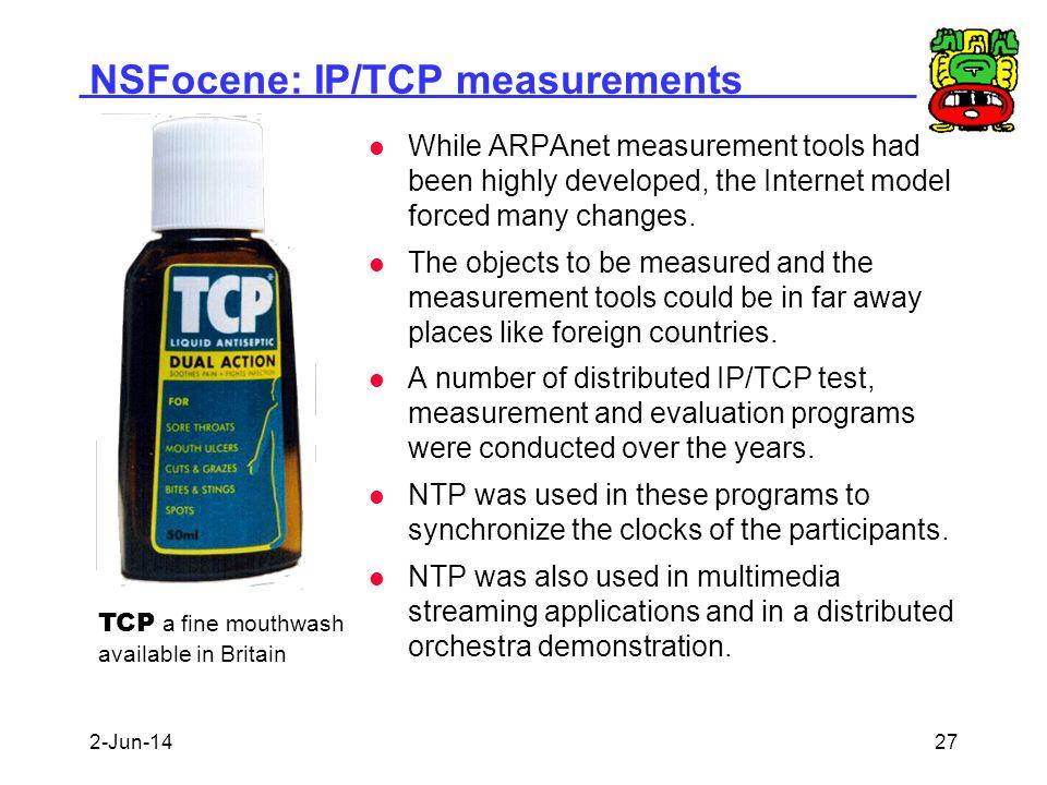 NSFocene: IP/TCP measurements