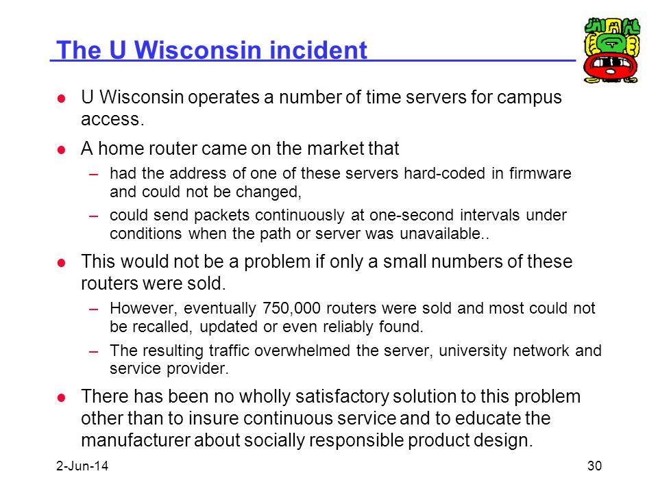 The U Wisconsin incident